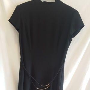 David Warren long black dress
